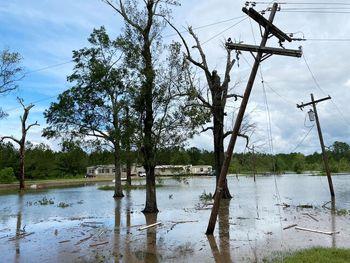 ۶ کشته در آمریکا بر اثر طوفان لائورا
