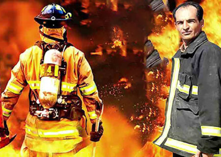 لحظه به لحظه فرشته شدن یک آتش نشان در صحنه نجات یک مرد + عکس / سنقر