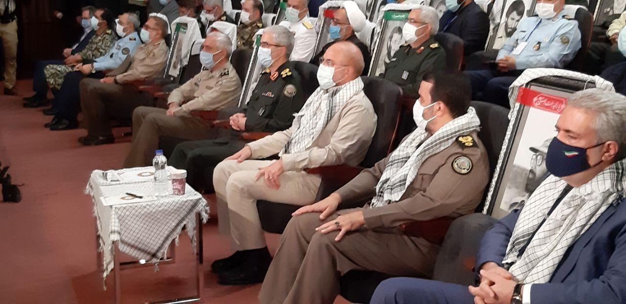 نمایشگاه دستاوردهای دفاع مقدس با حضور قالیباف افتتاح شد