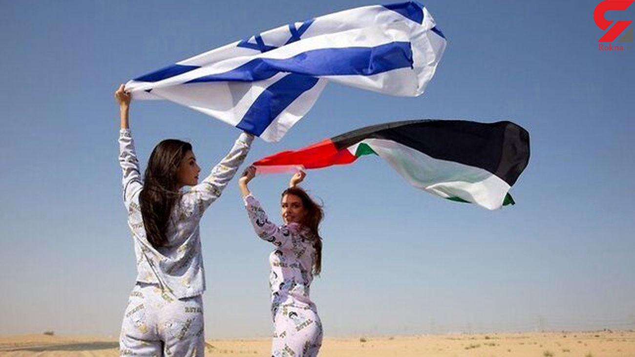 افتضاح / تبلیغ لباس خواب توسط خانم مدل اسرائیلی در امارات + عکس