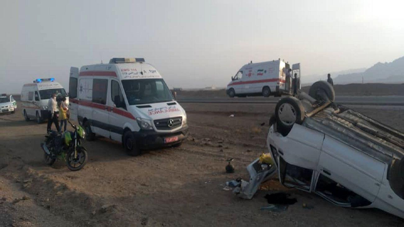 ۲ کشته و زخمی در تصادف پراید با عابران پیاده در جهرم