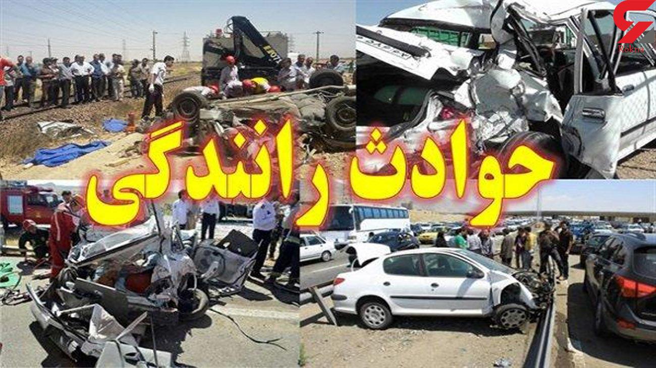 تصادف زنجیره ای خودروها در مهریز / ۸ نفر مصدوم شدند