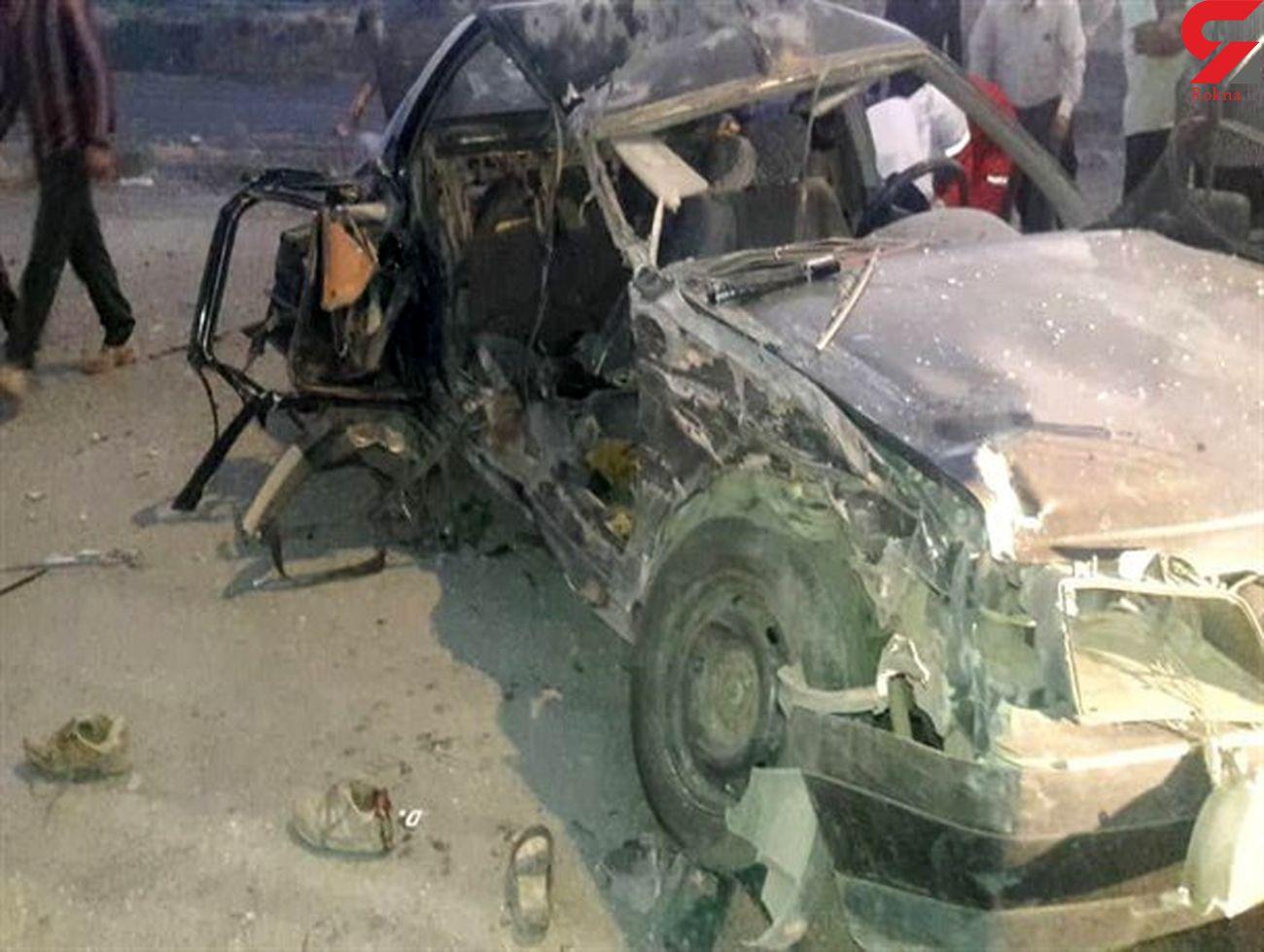 تصادف مرگبار در تویسرکان / ۴ زخمی و یک کشته