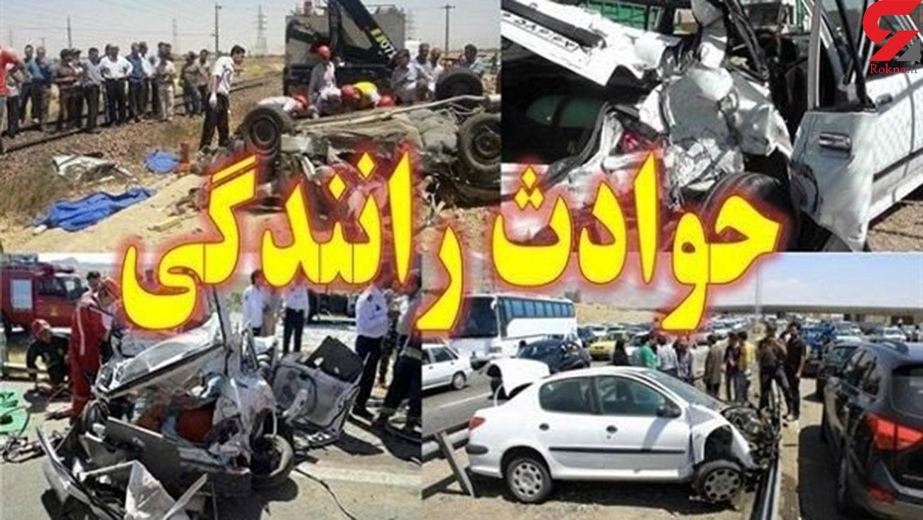 تصادف مرگبار در محور کرمان – ماهان/ ۷ نفر کشته و ۴ نفر مصدوم شدند
