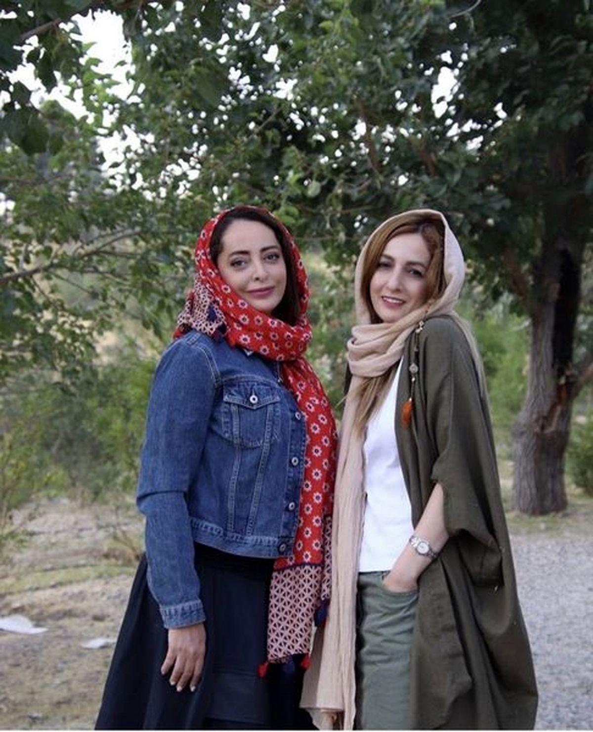 تغییرات ظاهری شقایق دهقان در کنار خواهرش + عکس