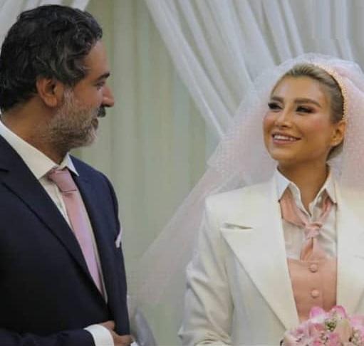 لباس خاص عروسی همسر آقای بازیگر + عکس