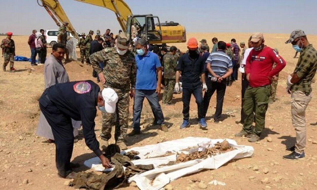 اجساد ۵۷  نفر در ۲ گور دسته جمعی در شمال سوریه کشف شد