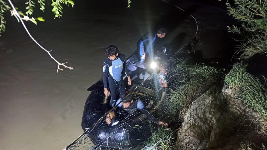 غرق شدن یک زن و یک کودک در رودخانه کاجو / عملیات جستجو همچنان ادامه دارد