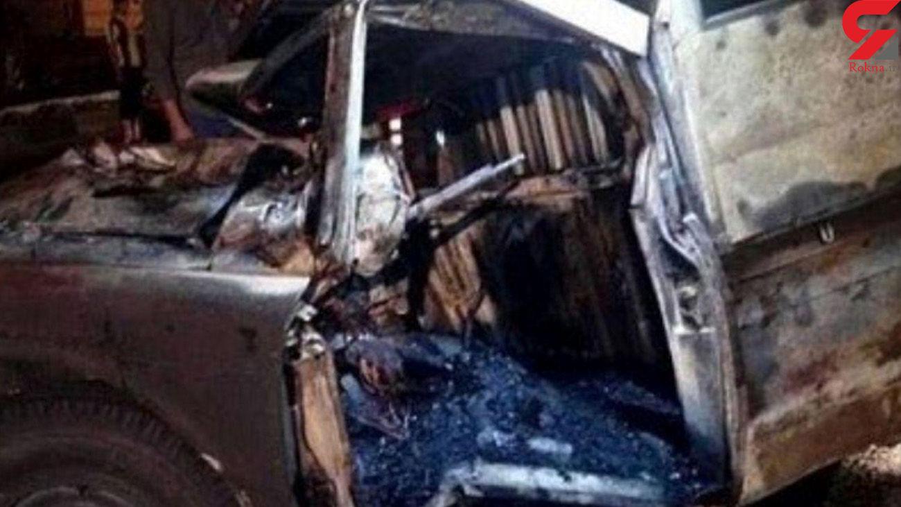 زنده زنده سوختن مرد نسیم شهری در خودرویش + عکس تلخ