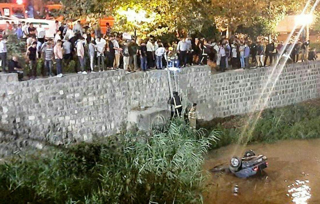 مرگ تلخ زن بابلی در سقوط پژو به رودخانه + عکس
