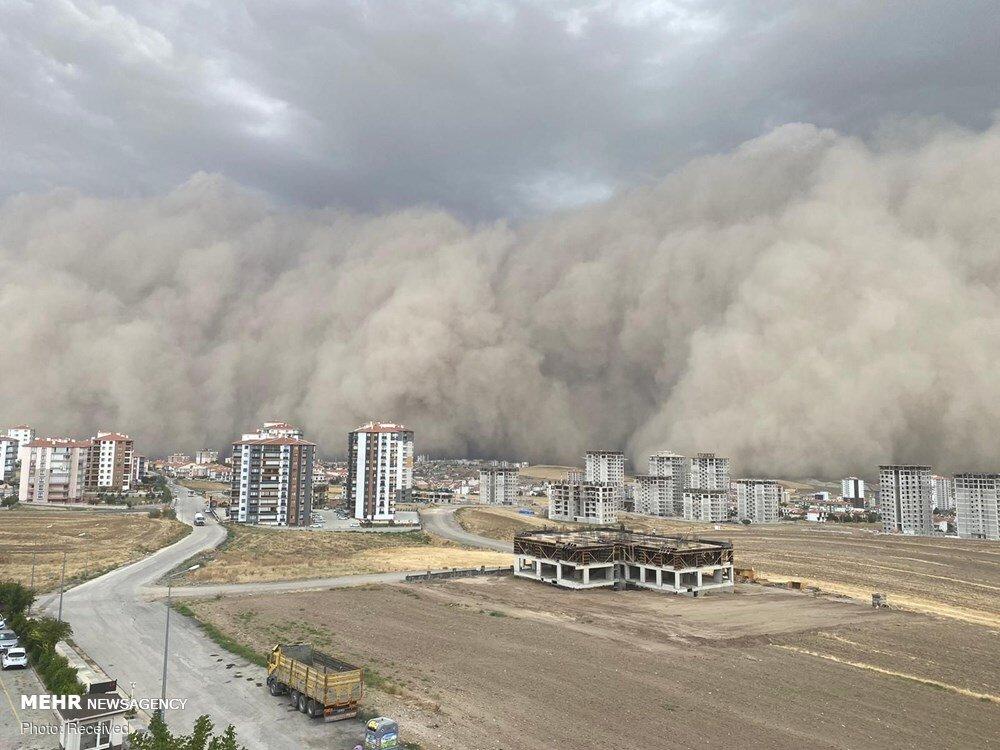 طوفان شن در  پایتخت ترکیه + عکس