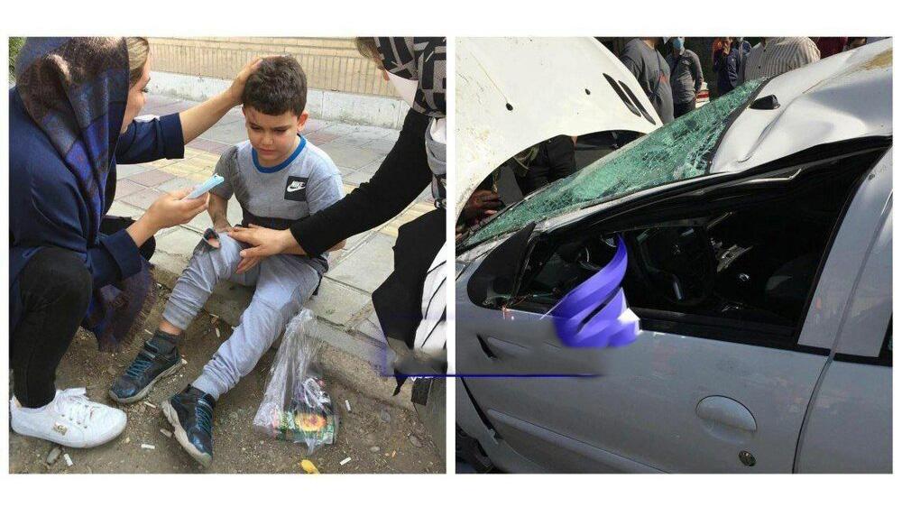 عکس / تصادف همسر و پسر وریا غفوری در تهران