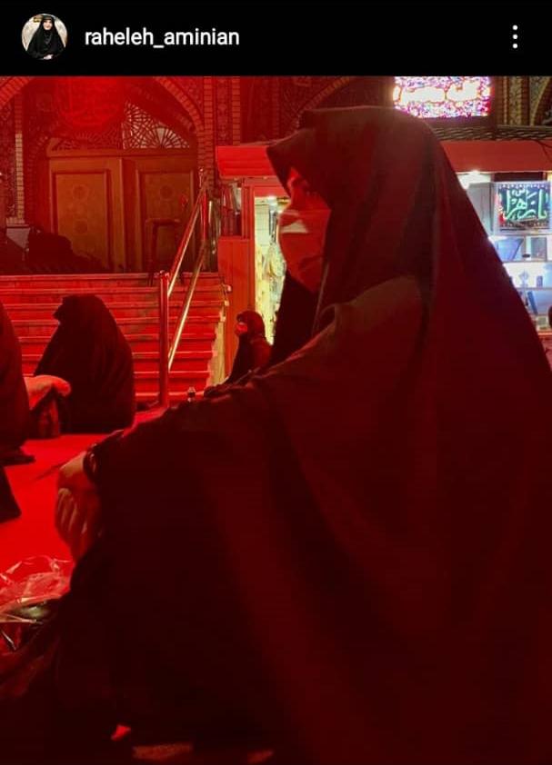 مجری زن مشهور تلویزیون با پروتکل بهداشتی در شب عاشورا + عکس