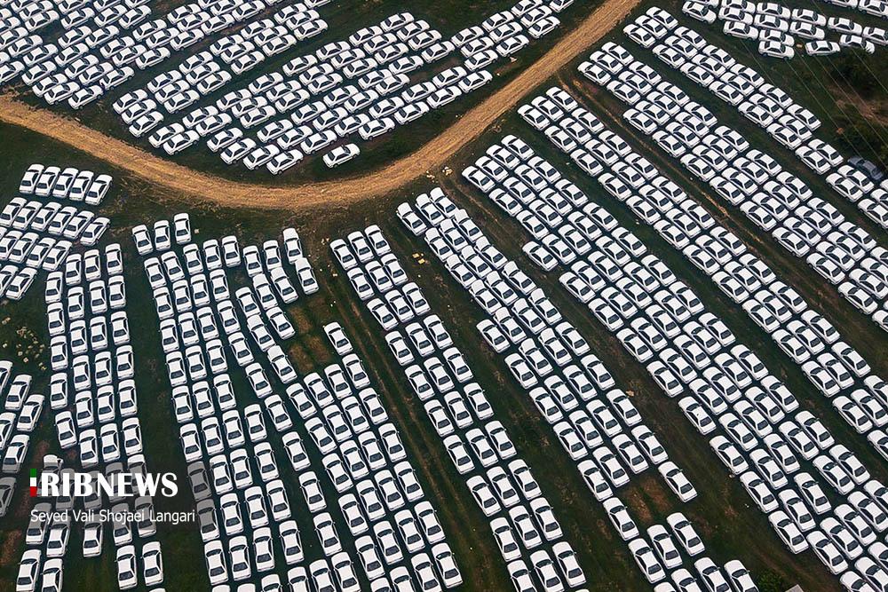 محل دپوی خودروهای ایران خودرو در شمال! + عکس