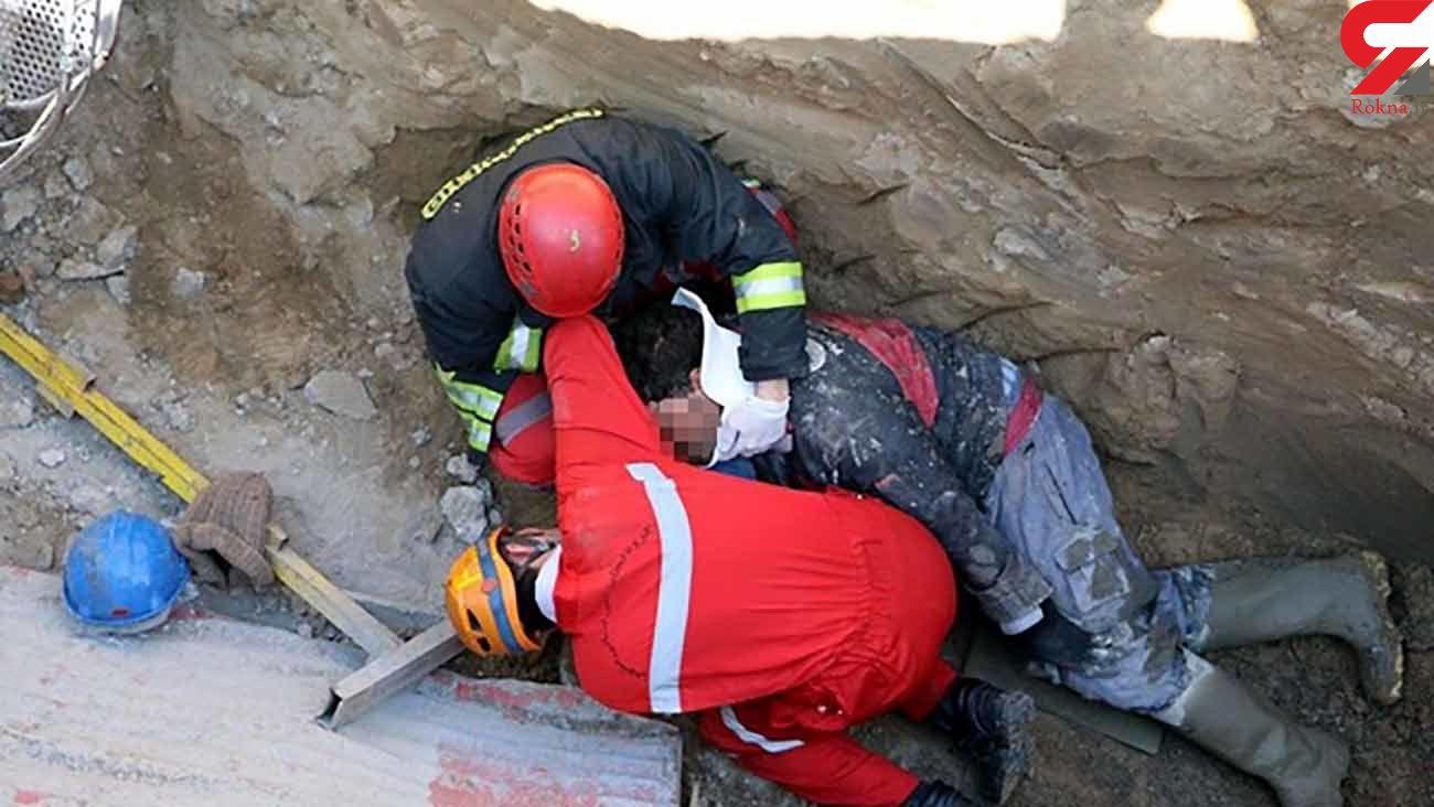 مصدومیت یک کارگر بر اثر سقوط از ارتفاع 14 متری