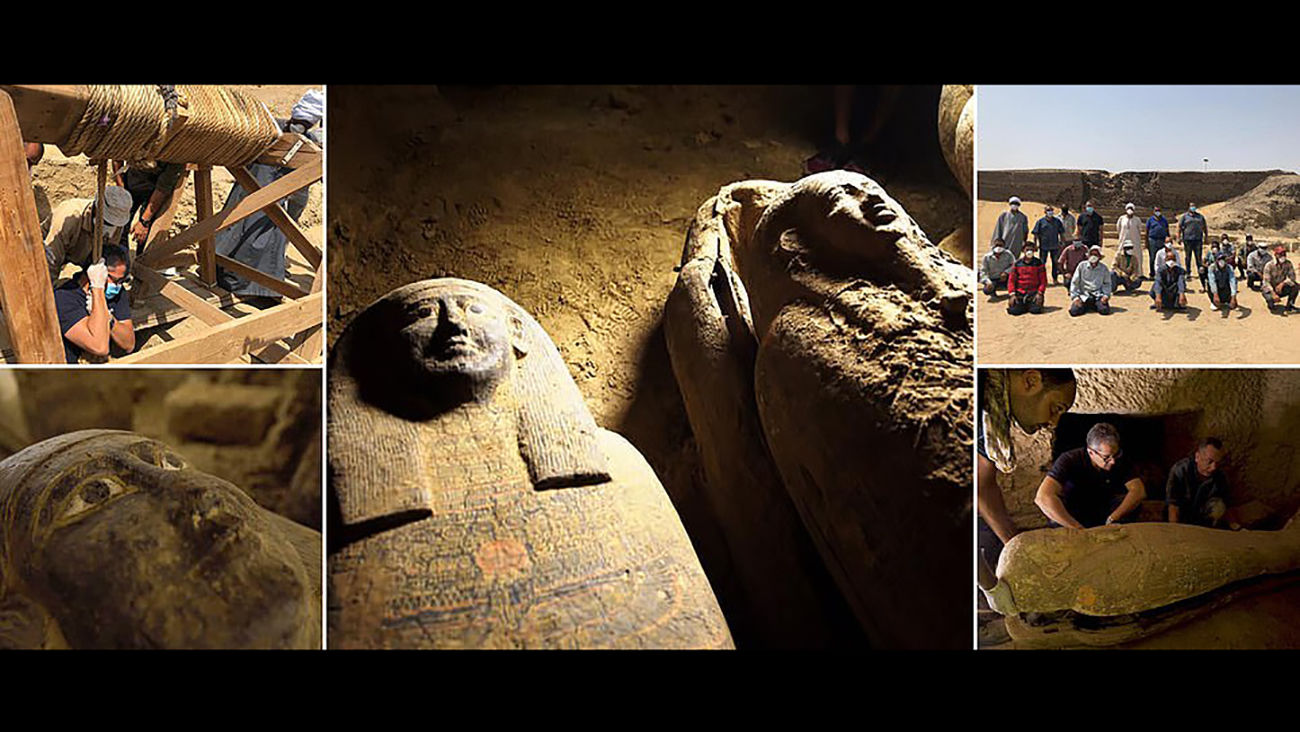 کشف بزرگ / اجساد ۱۳ مومیایی ۲۵۰۰ ساله در صحرا + عکس