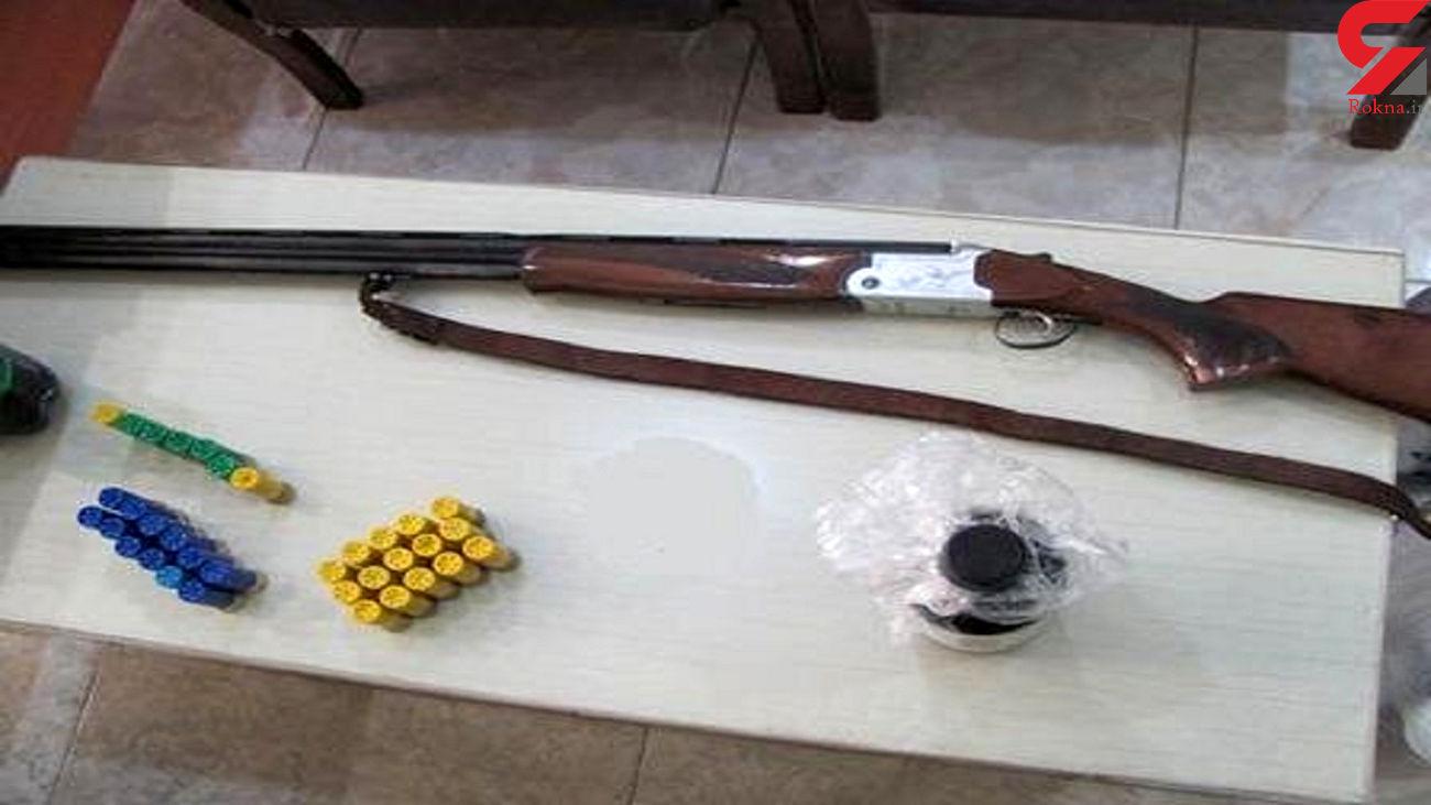 یک قبضه اسلحه شکاری در الیگودرز کشف شد