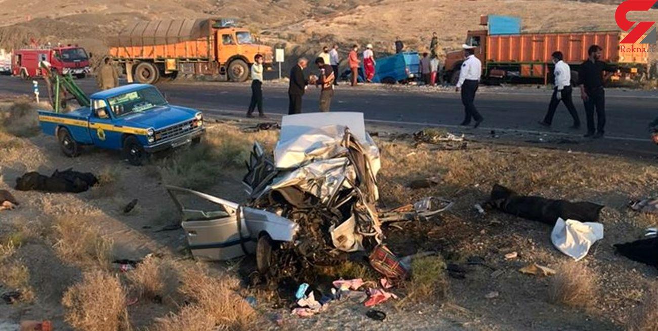 ۱۱ کشته و زخمی در ۲ تصادف مرگبار زاهدان