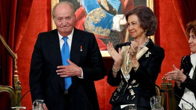 پادشاه اسپانیا و همسرش ملکه صوفیا