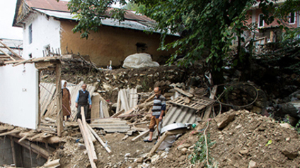خسارت سیل در غرب گیلان - تالش