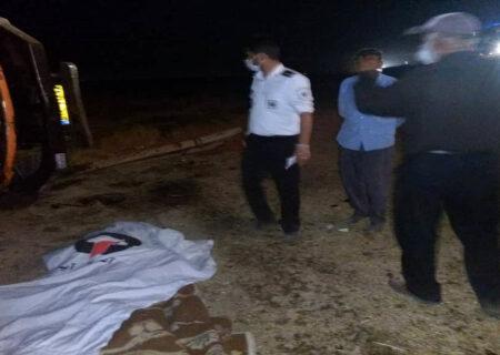 تصادف مرگبار کامیون در نظر آباد + عکس