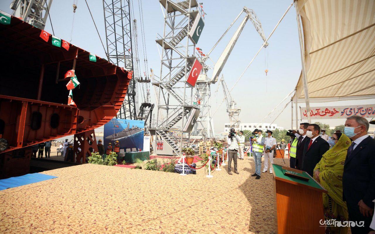 آغاز ساخت اولین ناوچه موشک انداز کلاس میلگیم در کراچی پاکستان+عکس