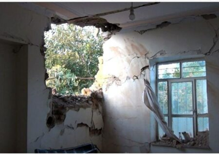 موشک خانه مرد ایرانی در مرز را ویران کرد