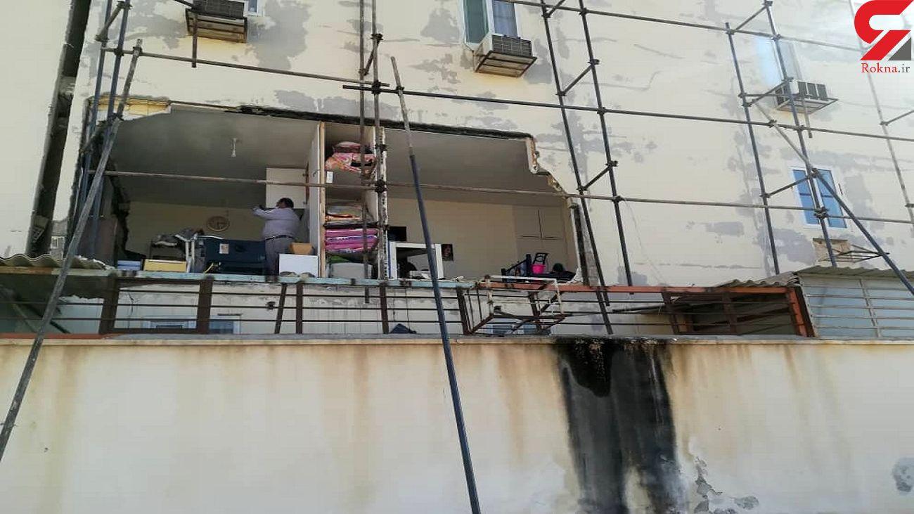 انفجار گاز در شهرک نیایش بوشهر  با ۴ مصدوم + عکس