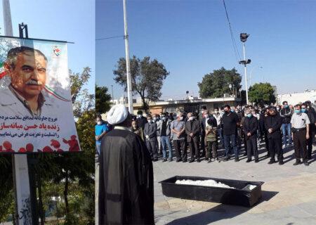 تشییع پیکر دومین شهید مدافع سلامت در قزوین + تصاویر