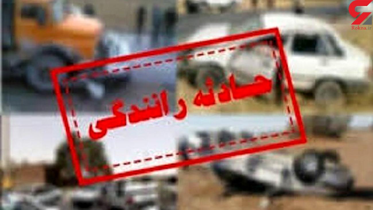 تصادف مرگبار پراید و کامیون در رفسنجان