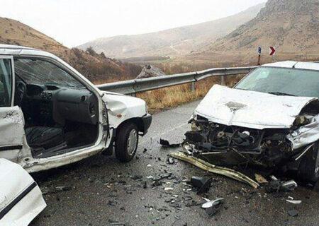تصادف مرگبار ۳ خودرو در جاده چالوس