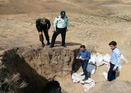 دستگیری حفاران غیرمجاز در فسا