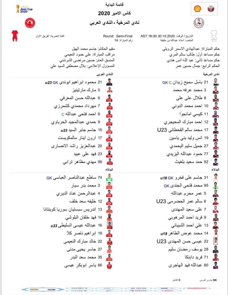خبرگزاری فارس – حضور محمدی و ترابی در ترکیب العربی مقابل المرخیه+عکس