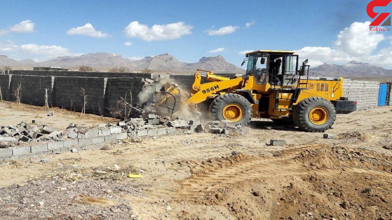 رفع تصرف بیش از ۱۹ هکتار اراضی ملی در ارزوییه