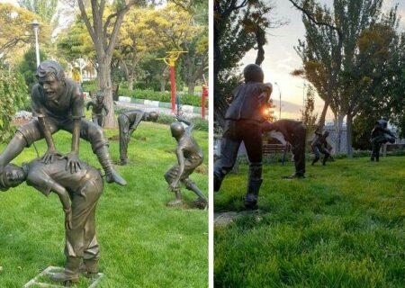 سرقت مجسمه های بازی کودکان از پارک صدف تبریز