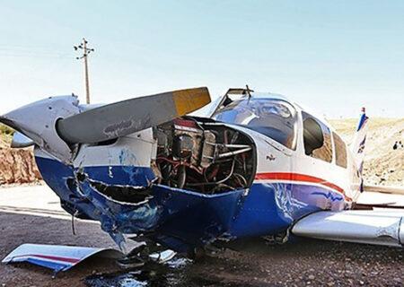 اولین عکس از سقوط هواپیمای در شهرکرد / خانم خلبان زنده ماند