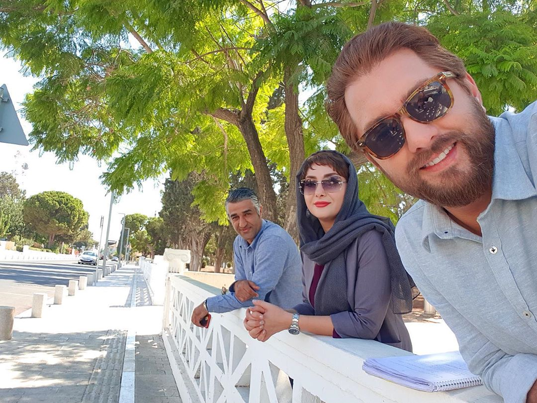 قبرس گردی بهرام رادان درکنار هانیه توسلی + عکس