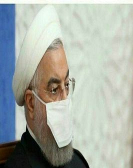 ماسک عجیب حسن روحانی در نشست امروز شورای هماهنگی اقتصادی/عکس