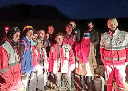 نجات ۳ نفر در ارتفاعات شاه جهان اسفراین