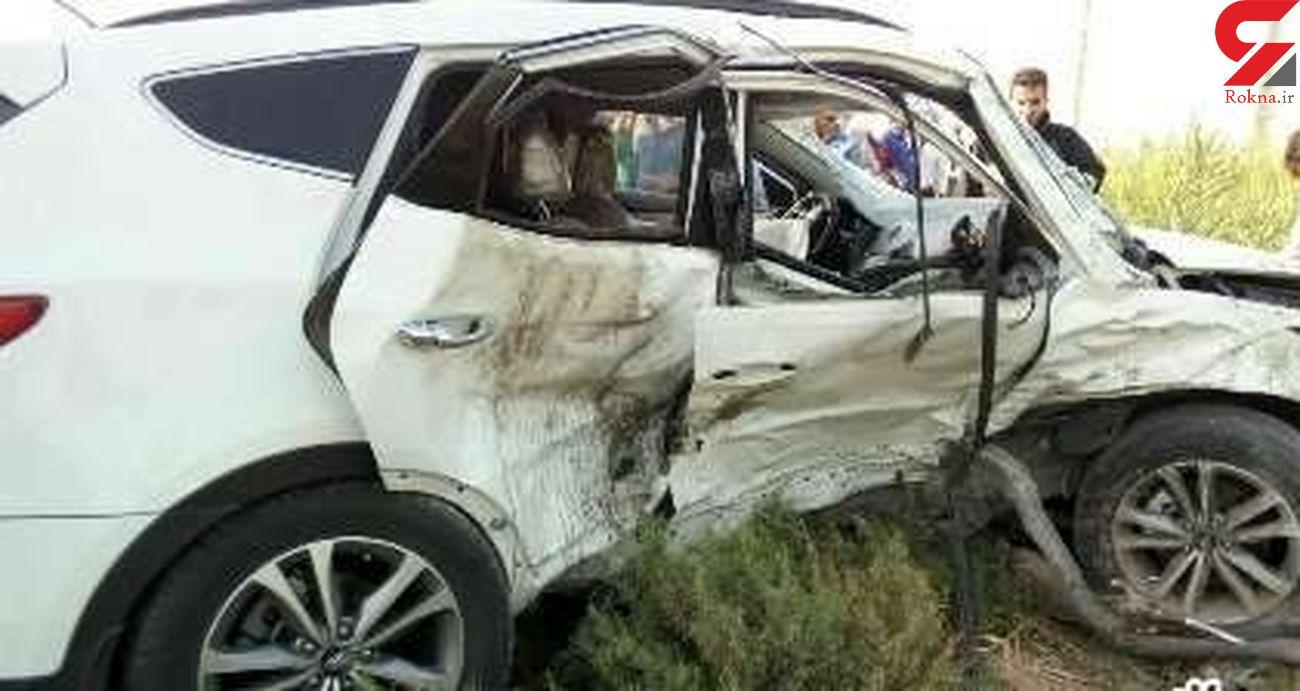 واژگونی خودرو سانتافه در هندیجان سه کشته و مصدوم برجای گذاشت