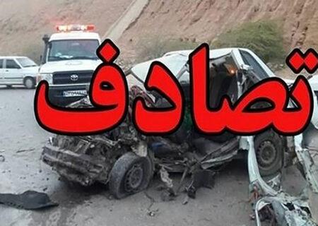 ۳ کشته و مصدوم در برخورد وانت نیسان و کامیون در شهرکرد