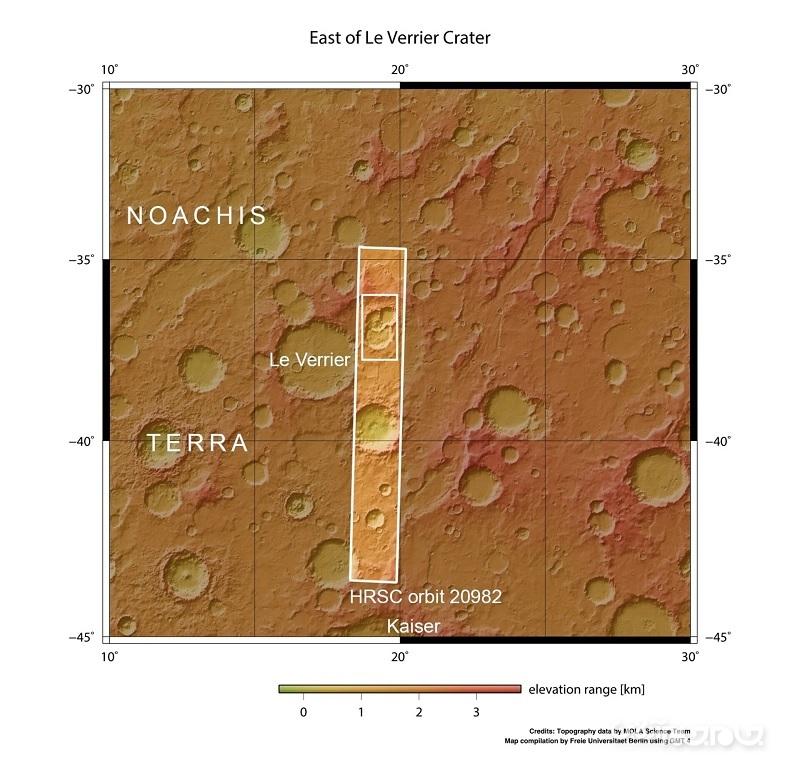 اخترشناسان یک دهانه سهگانه جدید روی مریخ کشف کردند+عکس