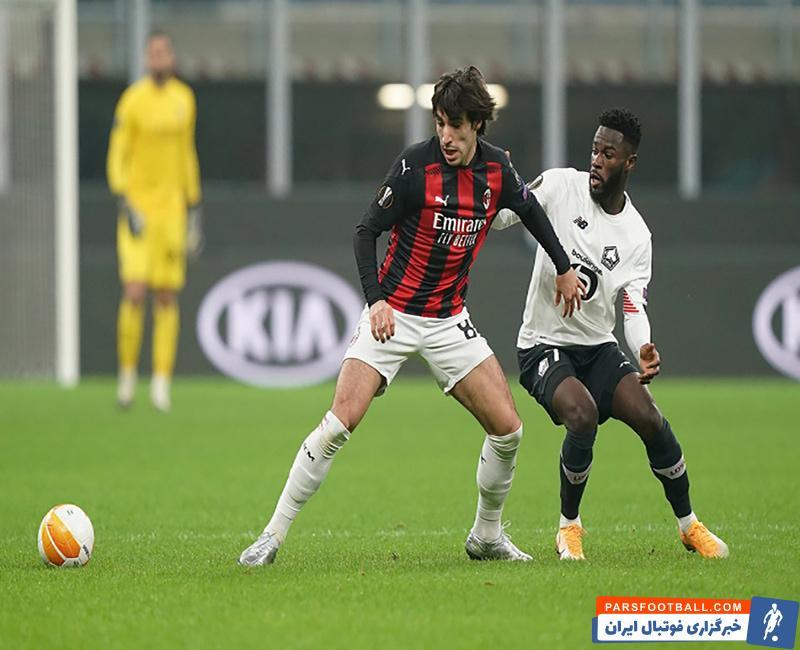 اولین شکست فصل میلان در لیگ اروپا ؛ لیل کابوس جدید روسونری ؛ پارس فوتبال