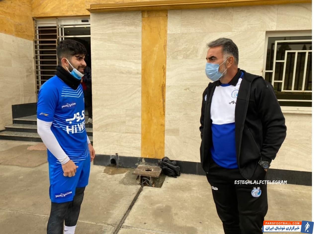 بازگشت رضا آذری هافبک استقلال به تمرینات، پس از ۶ ماه مصدومیت و دوری از میادین