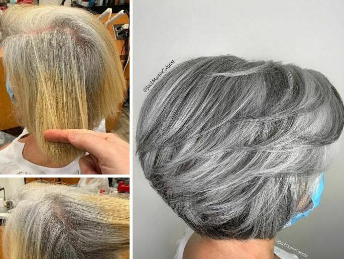 به جای رنگ کردن موهای سپید، زیبایی آن را جلوه دهید!