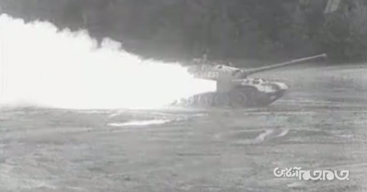 تانک مجهز به موتور راکت اتحاد جماهیر شوروی برای حرکت سریع در زمینهای گلآلود و باتلاقی+عکس