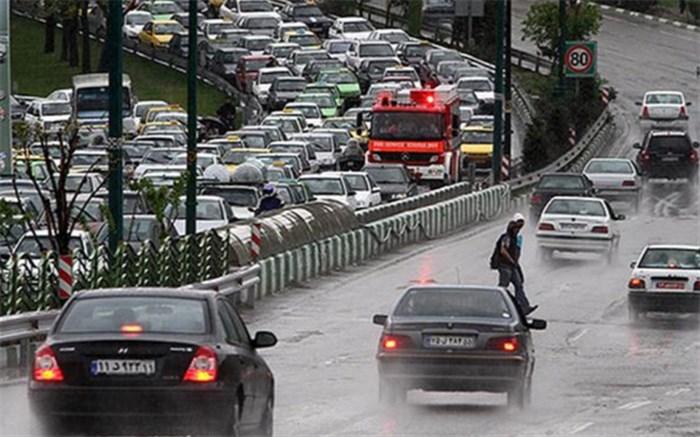 ترافیک سنگین در محور تهران- فشم