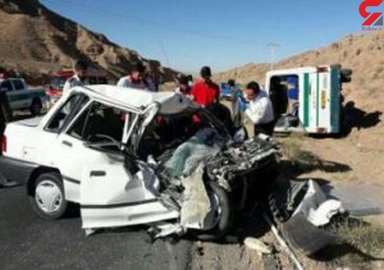 تصادف خودرو پراید در پردیس