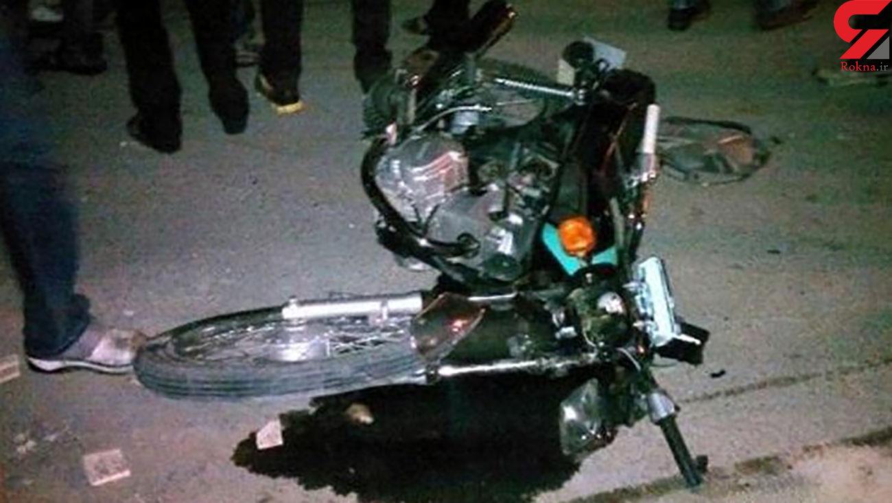 تصادف مرگبار ام وی ام با موتور در اتوبان صیاد