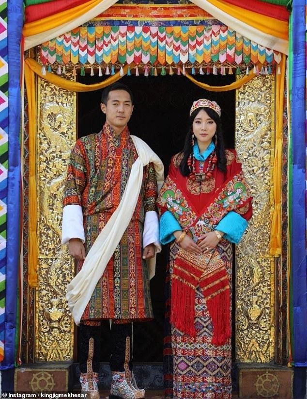 تصاویر ازدواج خواهر ملکه بوتان با برادر پادشاه